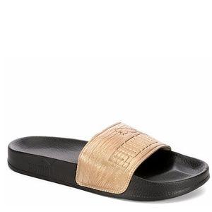 NWT PUMA Lead Cat Slide Sandals- Rose Gold/Black